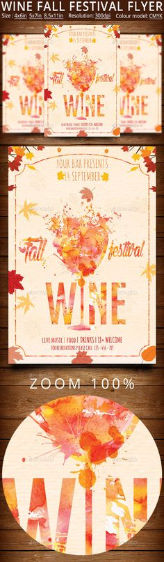 Wine Fall Festival Flyer And Poster