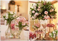Decoração de casamento rosa e branco