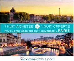 Offre spéciale AccordHotels : 1 nuit achetée = 1 nuit offerte à Paris | Maxi Bons Plans