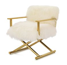 Just a visual for our director chairs: DIRECTOIRE TIBETAN FUR CHAIR <BR>[ available online ]