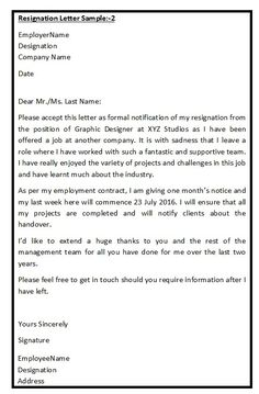 Retirement Resignation Letter Example | Retirement | Pinterest ...