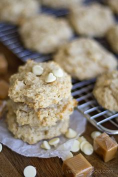 Caramel Apple Cookies - so chewy and full of the flavors of fall!