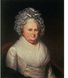 Martha Washington Charles Willson Peale (1741-1827) Oil on canvas, 1795 72.7 x 59.2 cm (28 5/8 x 23 5/16 in.) Independence National Historical Park Collection, Philadelphia, Pennsylvania Image courtesy Independence National Historical Park