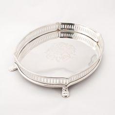 Ankasa Silver Footed Oval Tray