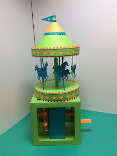 Papercrafts and other fun things: A STEM Project: A Carousel That Spins With a Gear Box A Gear, Stem For Kids, Yellow Paper, Stem Challenges, Stem Science, Stem Projects, Science Activities, Carousel, Fun Things