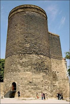 At the beginning of the 1st millennium BC, there was raised an 8-storied towered temple (Maidens Tower) devoted to seven gods, grandiose for those day, [possessing] seven sacred levels, [and] wall-recessed altars with seven-coloured fires burning in honour of the pantheon of gods of Ahura Mazda or Mithra.  Professor Davud Akhundov.  Kyz Galasy (or Maidens Tower), Baku - Azerbaijan Republic The former Soviet republic of Azerbaijan (ancient Iranian province of Arran)