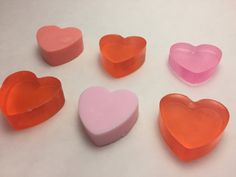 Valentine Heart Soap Favor: Pink or Red Heart Soap, Classroom Valentine Favor with Happy Valentine's tag, School Favor