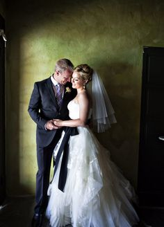 Gorgeous shot of the newlyweds! Wedding at Korakia Pensione in Palm Springs ~ http://stylemepretty.com/2012/03/27/palm-springs-wedding-by-amy-kaneko-events /  Photography by joymariephoto.com