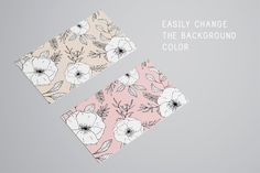 10 botanical business cards pack by Crocus Paperi on @creativemarket