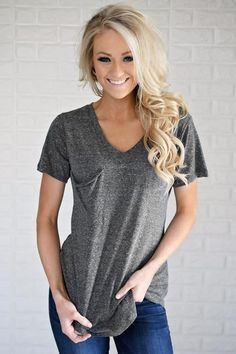 Basic Charcoal Pocket Tee
