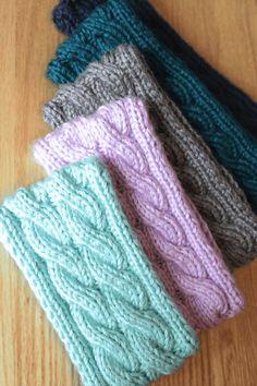 Double Cable Ear Warmer Headband Knitting Pattern by Liz @ PurlsAndPixels Knitting Patterns Cable Ear Warmer Headband Knitting Pattern - PurlsAndPixels Knitting Blogs, Free Knitting, Knitting Projects, Simple Knitting, Double Knitting Patterns, Knit Patterns, Knitting Designs, Doll Patterns, Knitted Headband Free Pattern