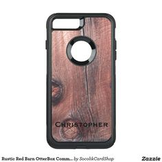 Rustic Red Barn OtterBox Commuter iPhone 7 Plus  Case -  This personalized Otterbox Commuter case for the iPhone 7 Plus is decorated with our original photograph of rustic old red barn wood siding, complete with knot holes. NOT WOOD, Just A Photo! One line of text, easy to modify. Great protection for your new cell phone. All Rights Reserved © 2016 Alan & Marcia Socolik.