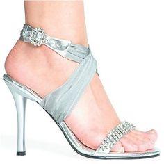 silver & ribbon & sparkling wedding shoes