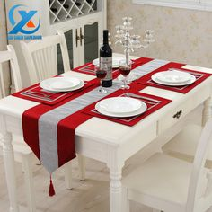 Cheap table cloth wedding, Buy Quality table cloths disposable directly from China table tennis mini game Suppliers: Luxury Cotton Modern Diamond Bronzing Table Runner Cloth Wedding Table Runner Home Party Decoration Fast Shipping Table Runner And Placemats, Quilted Table Runners, Party Decoration, Table Decorations, Table Design, Christmas Table Settings, Deco Table, Table Covers, Table Linens