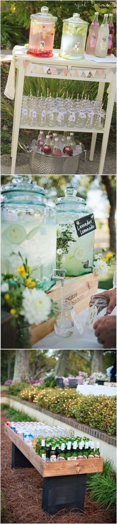 outdoor drink station ideas for rustic weddings