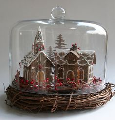 Gingerhaus  Paper Glitter House with Battery by Gingerhaus on Etsy