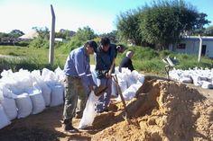 Los trabajos en Reconquista por la creciente del río.