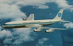 Airplane Postcards — Pan Am Boeing 707 (airline-issued) Boeing 707, Boeing Aircraft, Passenger Aircraft, Commercial Plane, Commercial Aircraft, Private Jet Interior, National Airlines, Old Planes, Airplane Photography