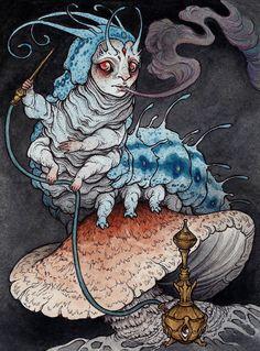 Absolem the Blue Caterpillar (Alice in Wonderland)  2014 by Caitlin Hackett