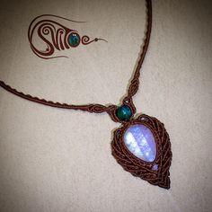 Necklace with moonstone #svitoe #macrame #jewellery #bijoux #necklace #gems…