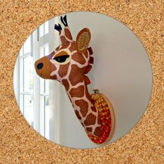 Faux taxidermy pattern. Giraffe head. Gladys the Giraffe pdf