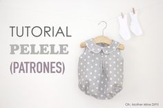 Tutorial y patrones: Pelele de lunares para bebe DIY | Oh, Mother Mine DIY!! | Bloglovin