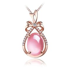 New Gift 18k GP Alloy /& Red Jade Pendant Woman/'s Lucky Peach Tip Zircon Pendant
