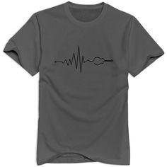 Xuruw Men's Musik Vibe Guitar Customized T-Shirt DeepHeather Gorgon City, Mens Printed T Shirts, Customise T Shirt, S Man, Casual, Mens Tops, Cotton, Guitar, Fashion