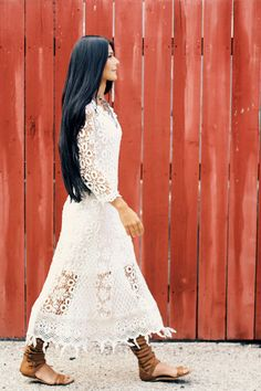 If I ever get married (no plans yet, so don't get your hopes up) I want to wear this dress!!! FP Me User We Love: Sharonova | Free People Blog #freepeople