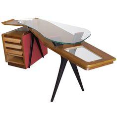 Desk italy  1950  Corner desk, Italian style, in perfect condition.