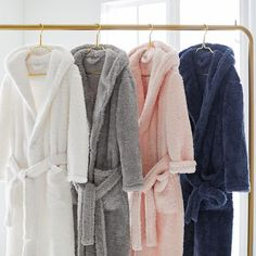 Stay snug and warm in our supersoft Cozy Sherpa Robe. With two front pockets for convenient storing and two different sizes, this robe will be your new favorite wrap to relax in. Pijamas Women, Cute Sleepwear, Peignoir, Pottery Barn Teen, Long Ties, Normal Wear And Tear, Plus Size Fashion, Ideias Fashion, Cozy