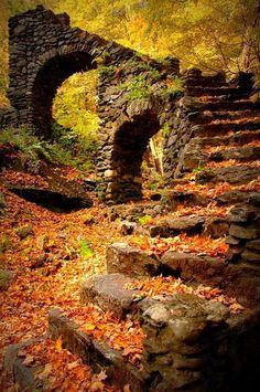 Madame Sherri's Castle ruins in New Hampshire.
