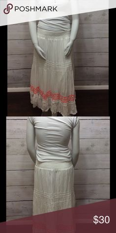 HP Style & Co - Spring Embroidered Skirt 100% cotton. Elastic waistband. Style & Co Skirts Maxi