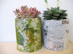 DIY - Recycling Project, Flower Pot from Tin Cans
