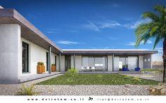 בית פרטי בערבה | A house in the desert - Israel www.dvirotem.co.il Our World, Design Projects, Garage Doors, Israel, Mansions, Architecture, House Styles, Outdoor Decor, Gardening