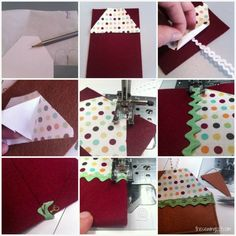 Village Gift Card Holder thesewingloft.com #diy #sewing #holiday