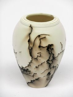 Horse Hair Pottery Vase, by Claire Malloy Ceramics ,Available from www.craftgranaryonline.com