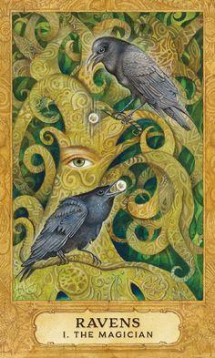 The Ravens - Tarot Artwork by Artist Holly Sierra Crow Art, Raven Art, Raven Totem, Buy Tarot Cards, Vikings, The Magician Tarot, Enchanted Wood, Crows Ravens, Norse Mythology