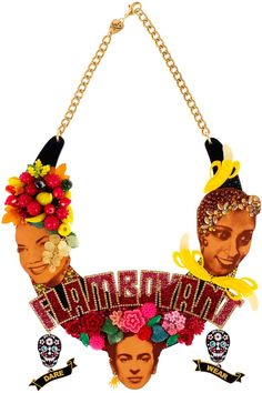 Our limited edition Flamboyant Necklace created especially for Sue Kreitzman's Dare to Wear exhibition: https://www.tattydevine.com/flamboyant-necklace-limited-edition-for-dare-to-wear.html