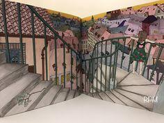 The Time Garden Coloring Book Daria Song #TheTimeGarden  #prismacolor premier   #dariasong Rooftop Stairway