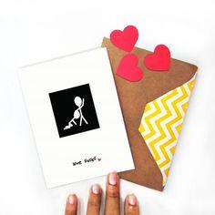 Valentines Day, Love Sucks, I Love YOU, Humorous, Funny, Greeting Card, Blank Single Fold, Adult Humor, Blow Job