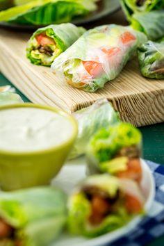 Vegan BLT Spring Rolls with Avocado   Keepin' it Kind