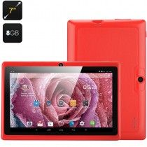 7 Inch Android Tablet 'Orion' - Android 4.4, Allwinner A33 Quad Core CPU, Mali 400 GPU, Wi-Fi, OTG, Bluetooth (Red)