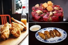 """(bottom right) - Pretzel Pork and Chive Dumps  """"Top Chef Dale Talde's ode to his dual heritage, these oh-so-New-York pork-stuffed pretzels with spicy mustard."""""""