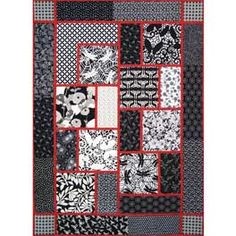 The Big Block Quilt Pattern--Actually an amazing idea for a Japanese-themed quilt.  It's all a matter of fabrics, right?
