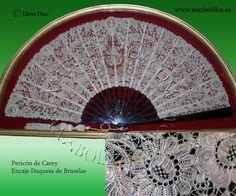 Abanicos de encajes. www.maxbolillos.es