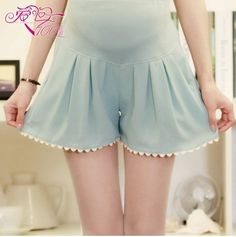 Casual Chiffon Shorts Skirts For Pregnant Women Maternity Pants Short Clothes For Pregnant Women Nice and Cool Summer NO23  $15.44