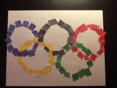 Toddler Olympic craft for my mommy & me classes at boca playstation