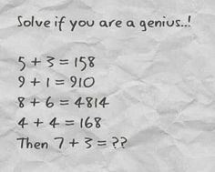 The World of Knowledge: Solve if you are a genius!!!
