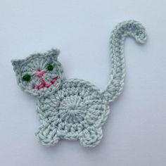 Updates from MyfanwysAppliques on Etsy - Patrones amigurumi - Chat Crochet, Crochet Mignon, Crochet Sheep, Crochet Unicorn, Crochet Animals, Crochet Toys, Free Crochet, Crochet Applique Patterns Free, Crochet Motif
